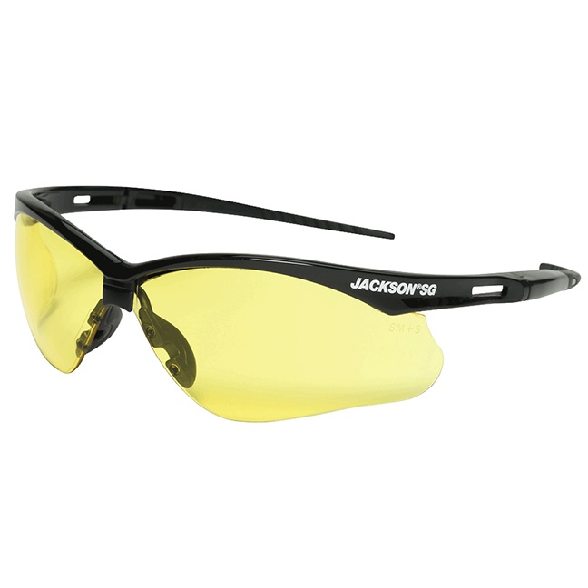 Jackson 50002 SG Series Premium Safety Glasses - Anti-Scratch / Amber