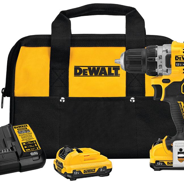 """DeWalt DCD701F2 12V MAX XTREME 3/8"""" Drill Driver Kit with 2.0Ah Batteries"""