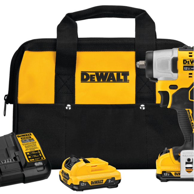 """DeWalt DCF902F2 12V MAX XTREME 3/8"""" Impact Wrench Kit with 2.0Ah Batteries"""