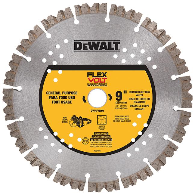 "DeWalt DWAFV8900 Flexvolt Diamond Cutting Wheel 9"""