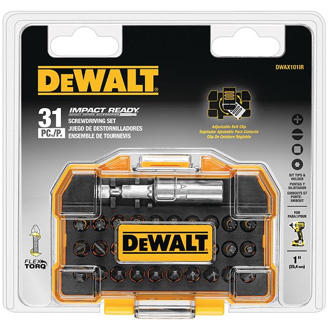 DeWalt DWAX101IR 31-Piece Extra Small Tough Case Impact Ready Screwdriving Bit Set