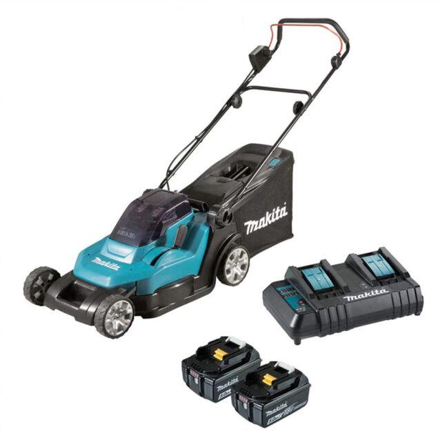 """Makita DLM432CT2 18Vx2 Lawn Mower 17"""" Kit"""