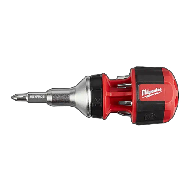 Milwaukee 48-22-2330 8-in-1 Compact Ratcheting Multi-bit Driver
