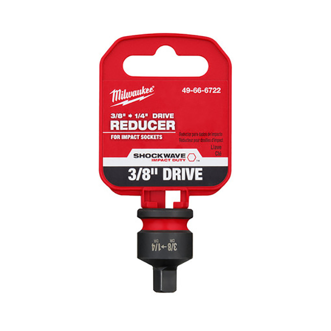 """Milwaukee 49-66-6722 SHOCKWAVE Impact Duty 3/8""""Drive to 1/4""""Drive Reducer"""
