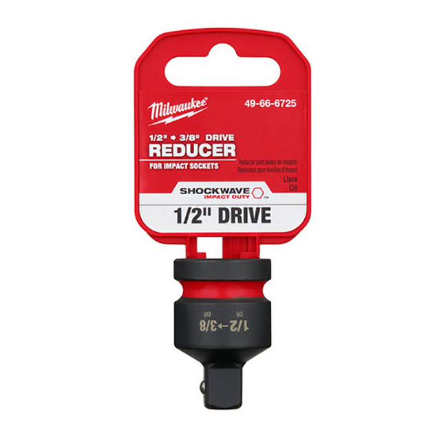 """Milwaukee 49-66-6725 SHOCKWAVE Impact Duty 1/2""""Drive to 3/8""""Drive Reducer"""