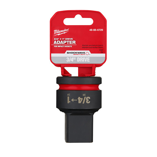 """Milwaukee 49-66-6729 SHOCKWAVE Impact Duty 3/4""""""""Drive to 1""""Drive Adapter"""