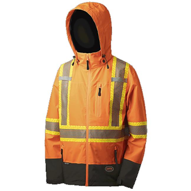 Pioneer 5220 V1130450 Softshell Waterproof Breathable Premium Safety Jacket Hi-Viz Orange