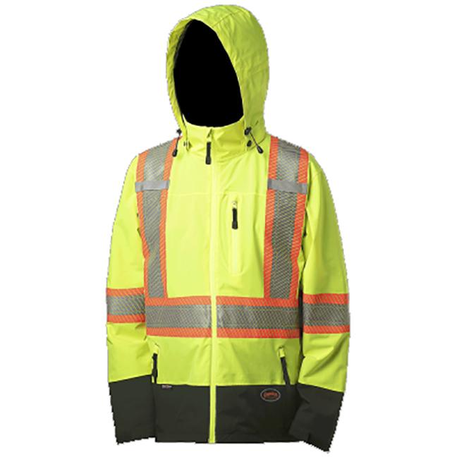 Pioneer 5221 V1130460 Softshell Waterproof Breathable Premium Safety Jacket Hi-Viz Yellow