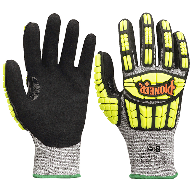 Pioneer 5363 V5012140 Cut and Impact Resistant Gloves with TPR - Cut Level A5