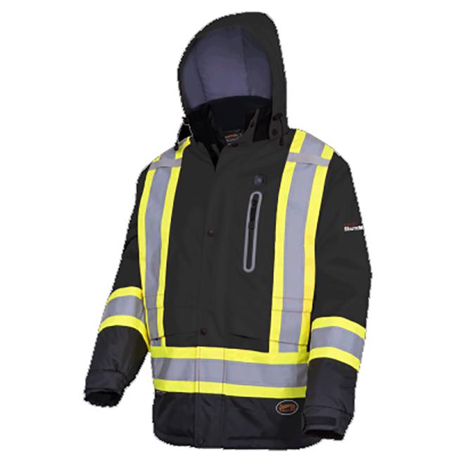 Pioneer 5409 V1210170 Hi-Viz Heated Insulated Safety Jacket - Black