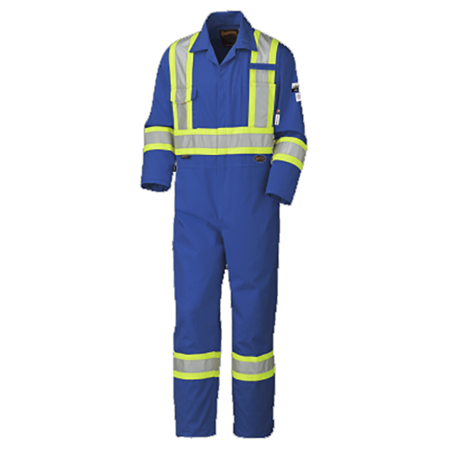 Pioneer 5552T V252001T FLAME-GARD/ARC Rated Safety Coveralls Royal Blue Tall Sizes