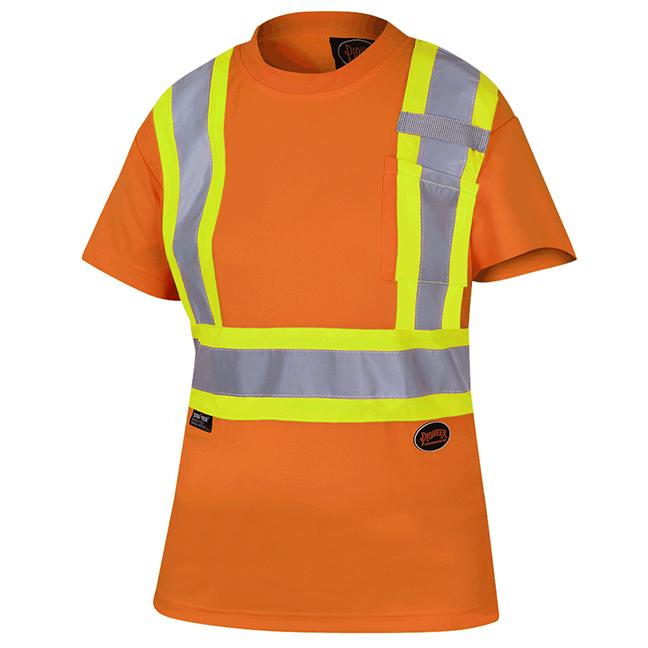 Pioneer 6948 V1051850 Women's Birdseye Safety T-Shirt Hi-Viz Orange