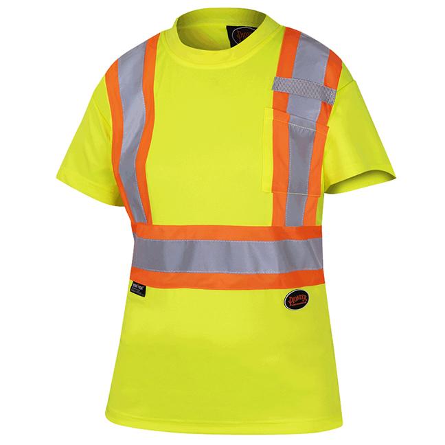 Pioneer 6949 V1051860 Women's Birdseye Safety T-Shirt - Hi-Viz Yellow