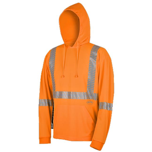 Pioneer 6964 V1052650 Birdseye Safety Hoodie Hi-Viz Orange