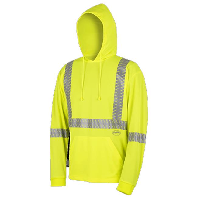 Pioneer 6965 V1052660 Birdseye Safety Hoodie Hi-Viz Yellow