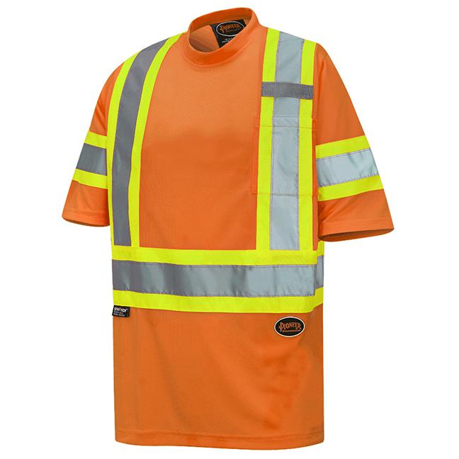 Pioneer 6970 V1052750 Birdseye Safety T-Shirt Hi-Viz Orange