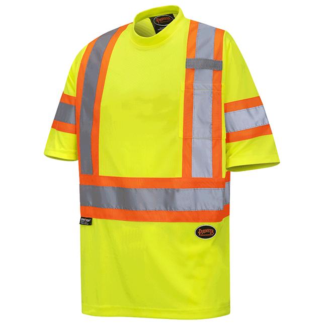 Pioneer 6971 V1052760 Birdseye Safety T-Shirt Hi-Viz Yellow