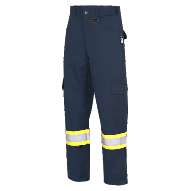 Pioneer 7764 V2540640 FR-TECH® Flame Resistant Safety Cargo Pants - Navy