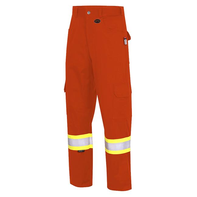 Pioneer V2541050 7765 FR-TECH Flame Resistant Safety Cargo Pants HiViz Orange