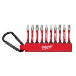Milwaukee 48‐32‐4091 SHOCKWAVE Square 2 Carabiner Driver Bit Set