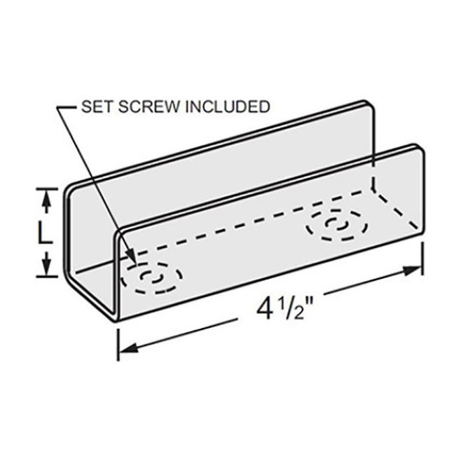 """PeakSource S1623 Internal Splice Channel for 1"""" x 1-5/8"""" Strut"""