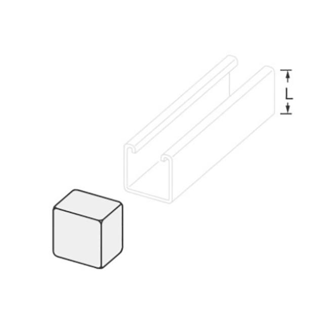"""PeakSource S1792 Plastic End Cap 1-5/8"""" x 1-5/8"""" White"""