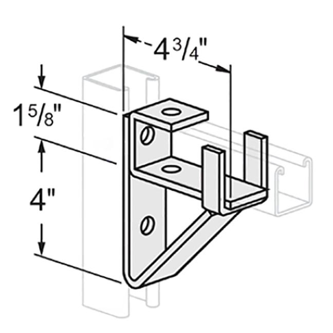 PeakSource S1920 Single Channel Bracket Electrogalvanized(EG)Steel