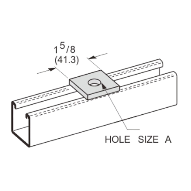 """PeakSource S3003 304SS Stainless Steel Square Washer 1/2"""""""