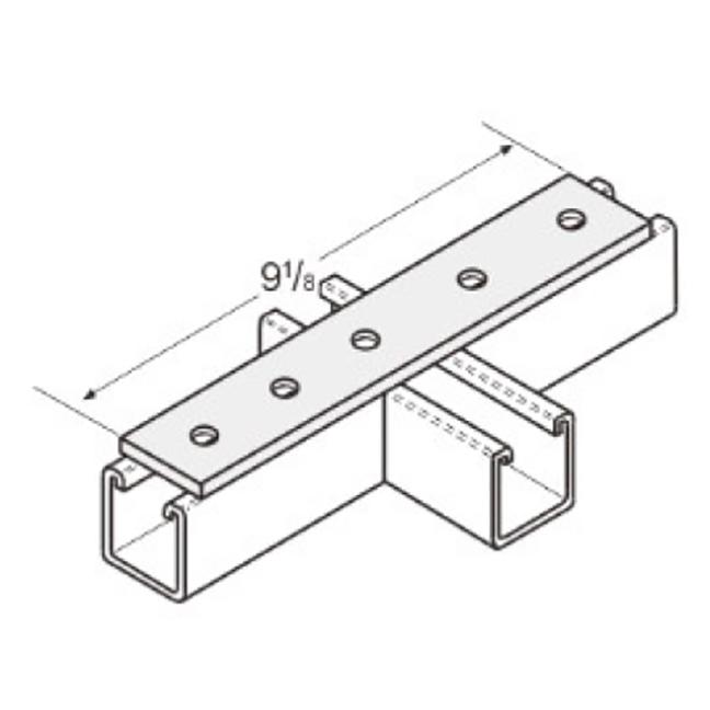 PeakSource S2017 5-Hole Splice Plate Electrogalvanized Steel (EG)