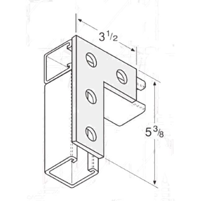 PeakSource S2023 4-Hole Flat Corner Angle Electrogalvanized (EG) Steel