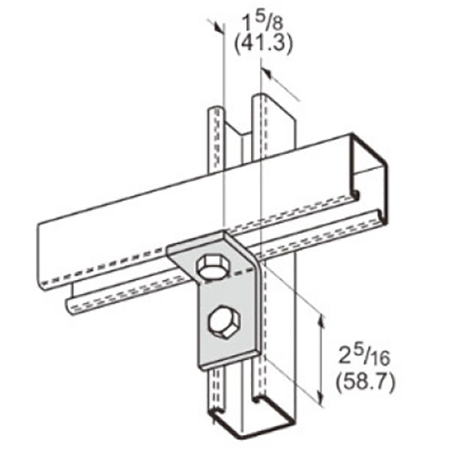 PeakSource S2102 2-Hole Corner Angle Electrogalvanized (EG) Steel