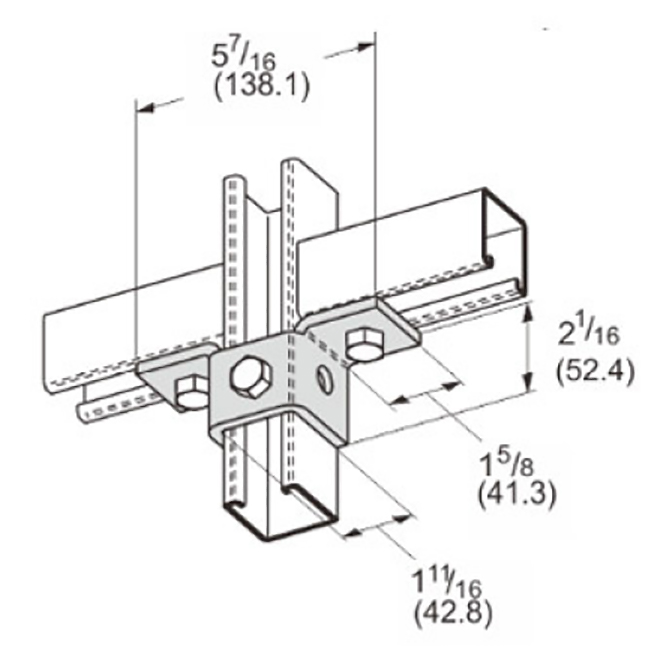 PeakSource S2421 5-Hole Double Wing Connection