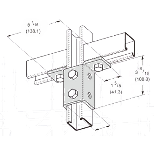 PeakSource S2422 8-Hole Double Wing Connection