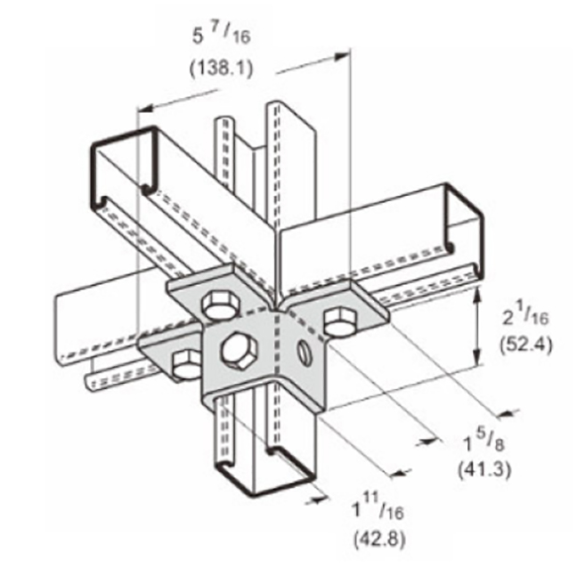 PeakSource S2430 6-Hole Triple Wing Connection