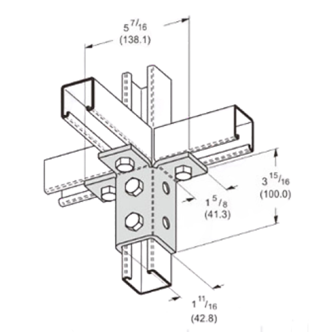 PeakSource S2431 9-Hole Triple Wing Connection