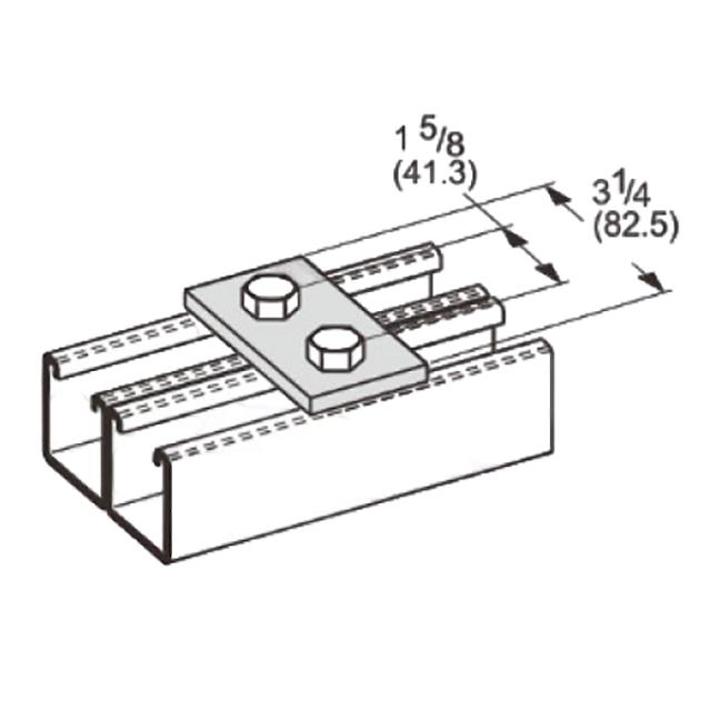 PeakSource S2012 2-Hole Splice Plate EG Steel