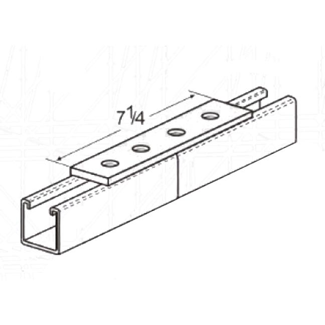 PeakSource S2016 4-Hole Splice Plate Electrogalvanized Steel (EG)