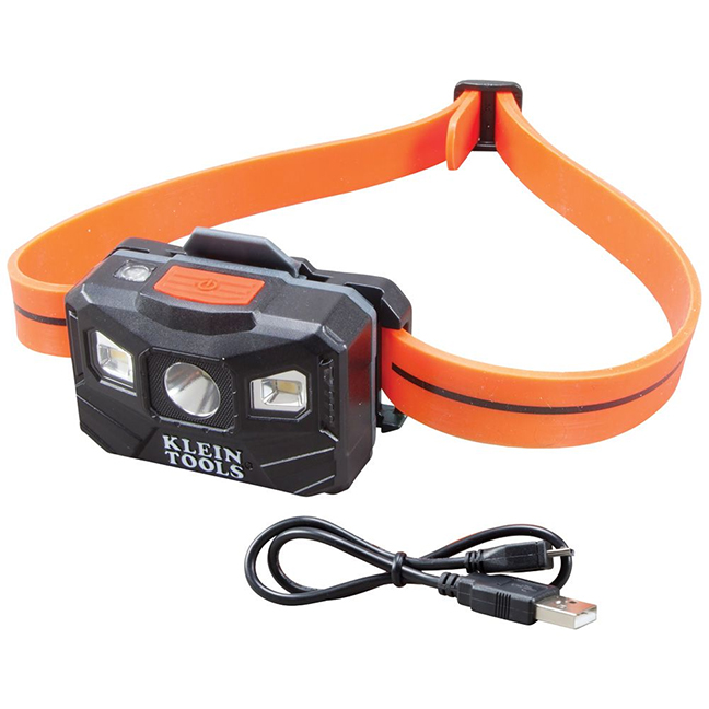 Klein 56064 Rechargeable Auto-Off LED Headlamp 400 Lumen All-Day Runtime