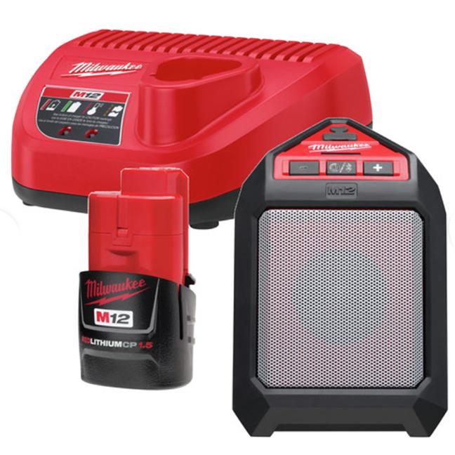 Milwaukee 2592-21 M12 Wireless Jobsite Speaker Kit