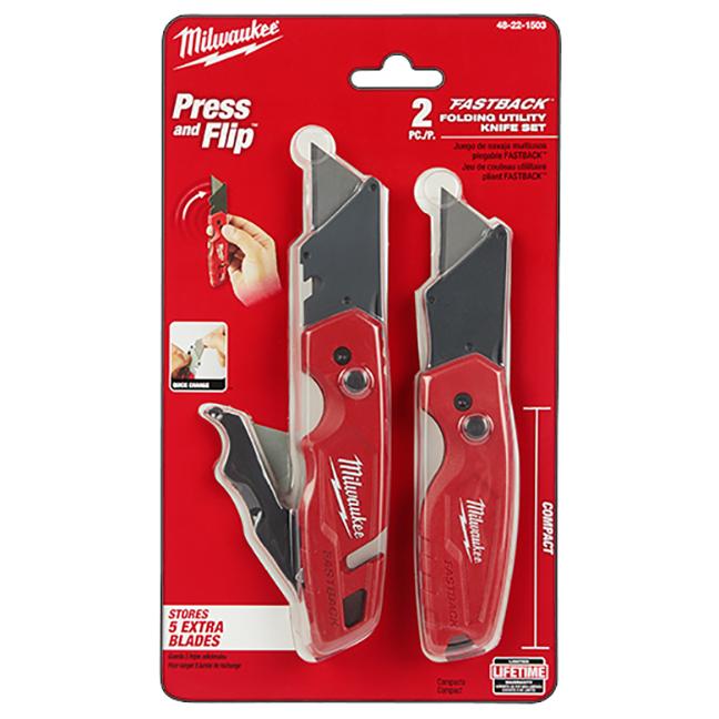 Milwaukee 48-22-1503 FASTBACK Folding Utility Knife Set