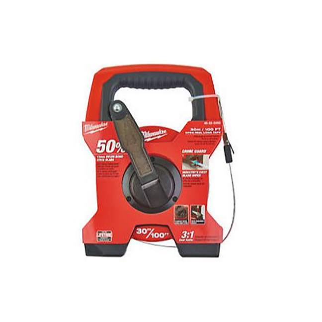 Milwaukee 48-22-5203 100ft/30m Open Reel Long Tape with Grime Guard™