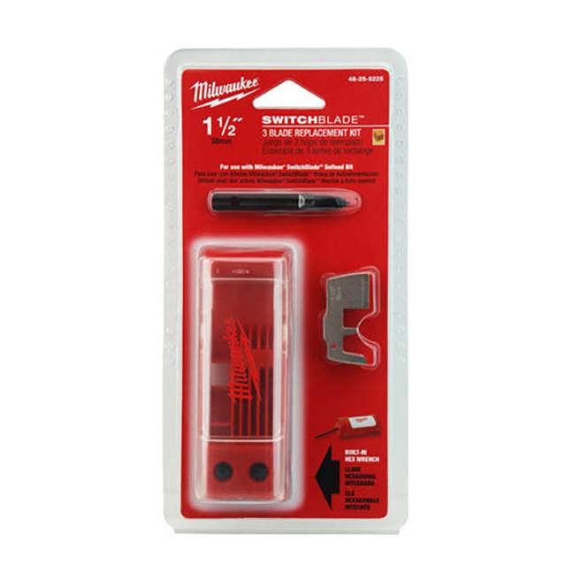 "Milwaukee 48-25-5225 1-1/2"" SWITCHBLADE™ 3-Blade Replacement Kit"