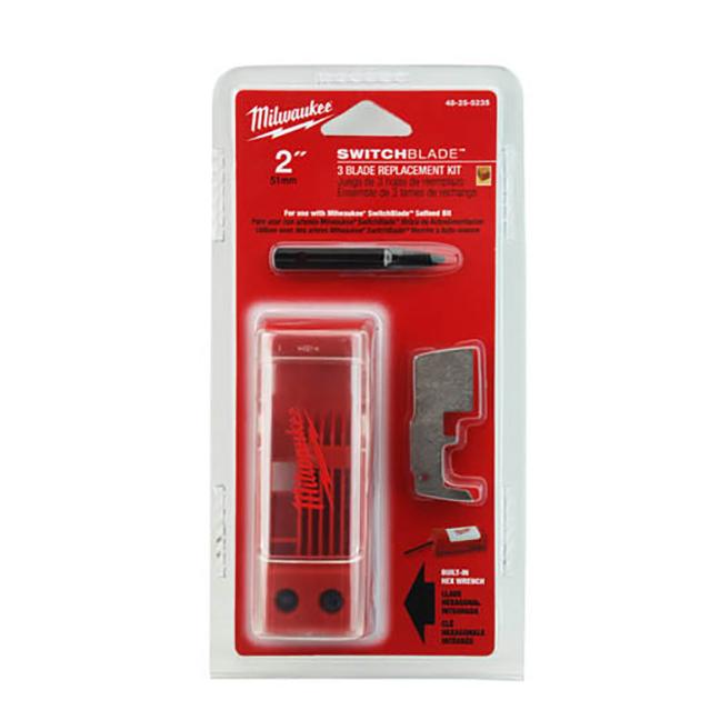"Milwaukee 48-25-5235 2"" SWITCHBLADE™ 3-Blade Replacement Kit"