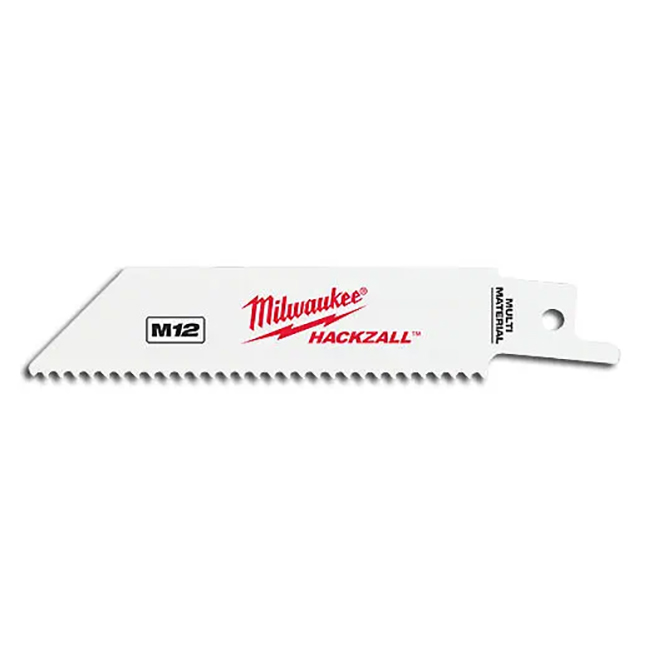"""Milwaukee 49-00-5410 M12 Hackzall 4"""" Blade for Multi-Material 5-Pack"""