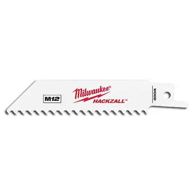 "Milwaukee 49-00-5460 M12 Hackzall4"" Blade for Wood 5-Pack"