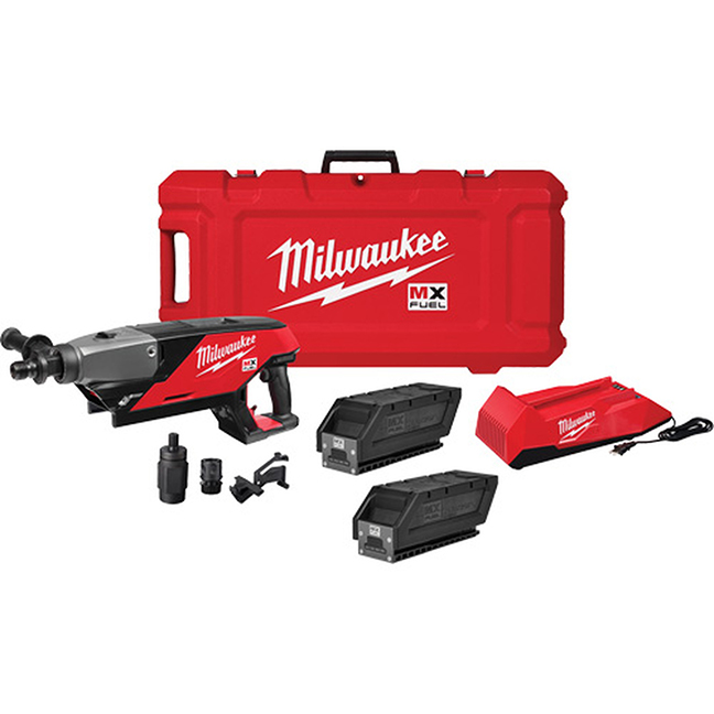 Milwaukee MXF301-2CP MX FUEL Handheld Core Drill Kit with 2 Batteries