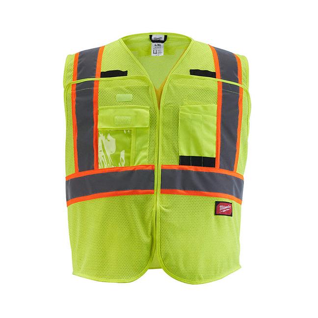 Milwaukee Class 2 Breakaway Mesh Safety Vest - Hi-Viz Yellow