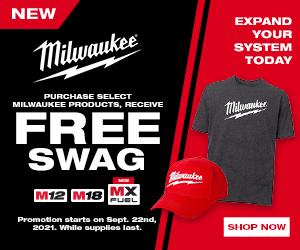 Milwaukee Sept 2021 Free Swag Promo