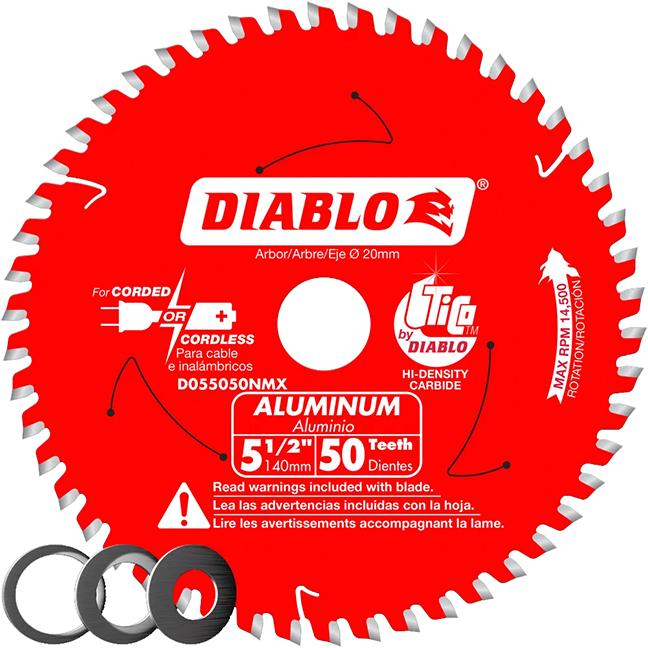 "Diablo D055050NMX 5-1/2"" x 50 Tooth Aluminum Cutting Saw Blade"