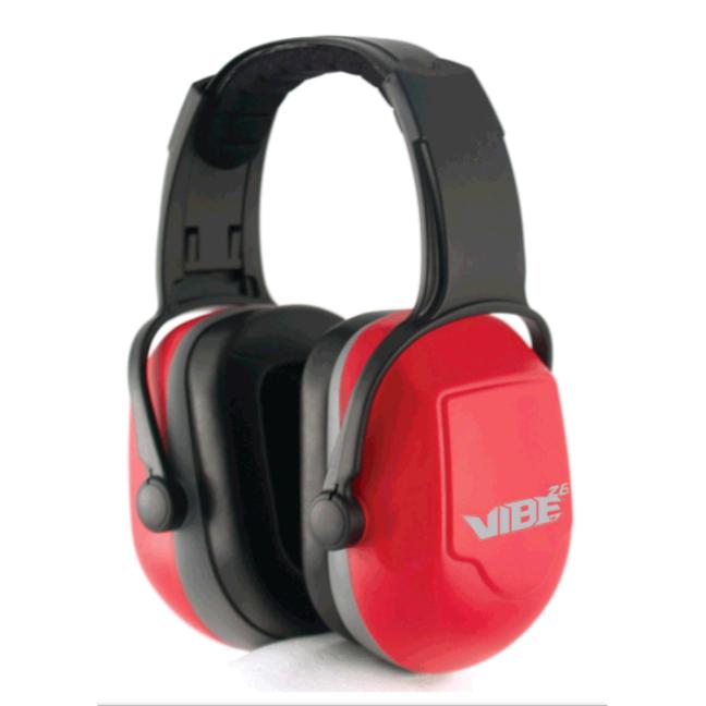 Jackson 20774 H70 Vibe Earmuffs Headband Style 26dB NRR - Red